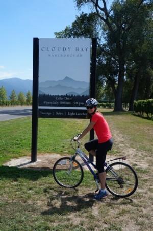 Kat at Cloudy Bay Winery