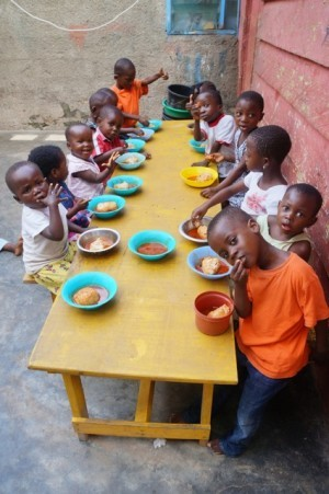 Toddler lunch at Royal Seed Home