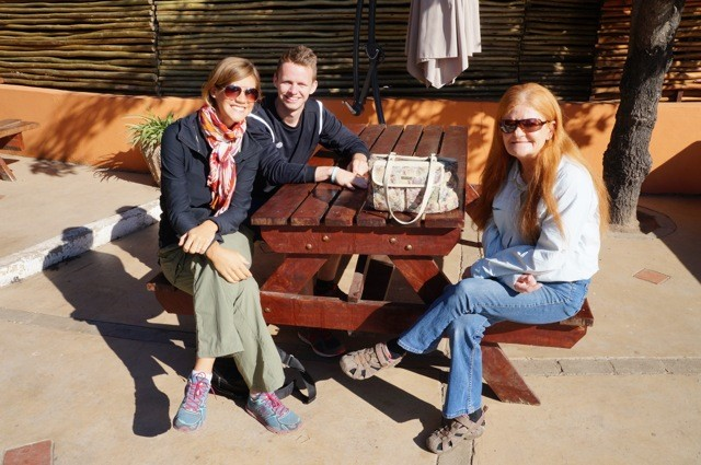 Kat, Charlie & Paula at Thebe River Safaris Lodge, Chobe