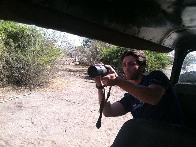 Mike on Chobe Safari