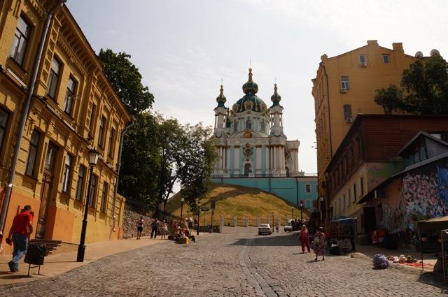 St. Andrew's Church from Andriyivsky Uzviz