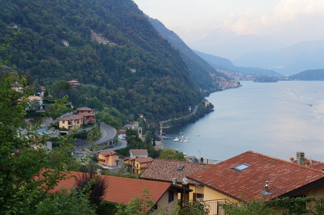 View of Argegno and lake from apartment