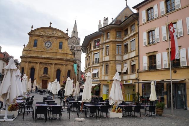 Yverdon-les-Bains main square