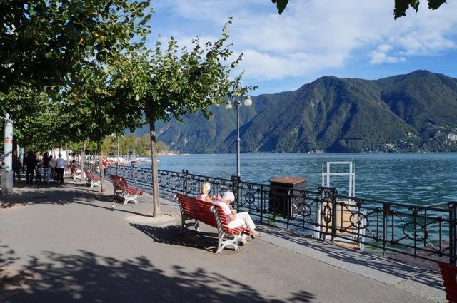 Lake Lugano promenade