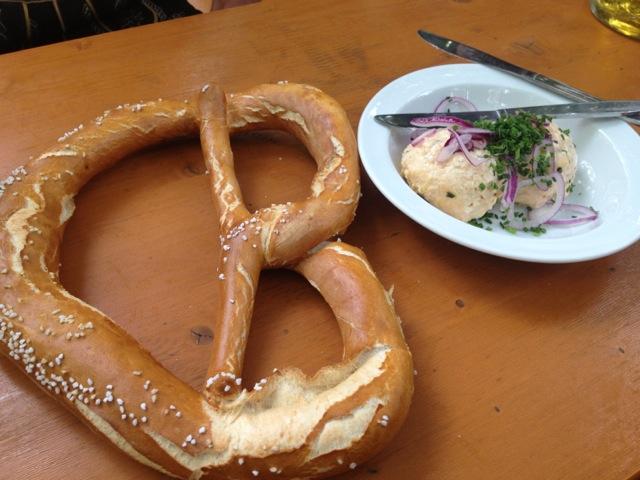 Obatzda and pretzel