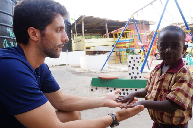 Mike spending time at Royal Seed Home orphanage